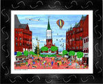 P687 - Church St. Summer Small (8.5 X 11) / Black Art