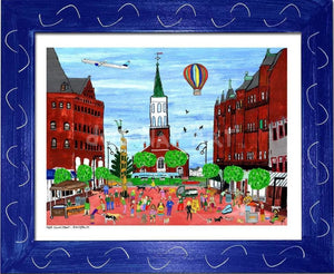 P687 - Church St. Summer Small (8.5 X 11) / Blue Art