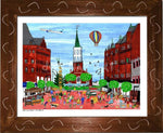 P687 - Church St. Summer Small (8.5 X 11) / Brown Art