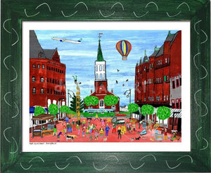P687 - Church St. Summer Small (8.5 X 11) / Green Art