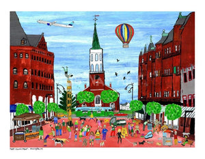 P687 - Church St. Summer Small (8.5 X 11) / No Frame Art