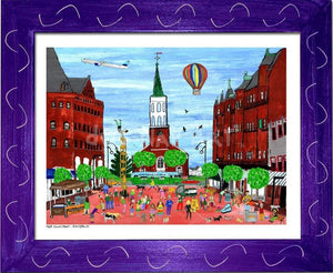 P687 - Church St. Summer Small (8.5 X 11) / Purple Art