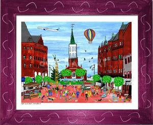 P687 - Church St. Summer Small (8.5 X 11) / Violet Art