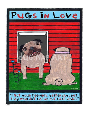 P690 - Pugs In Love - dug Nap Art