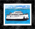 P693 - The Boat People Framed Print / Small (8.5 X 11) Black Art