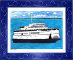 P693 - The Boat People Framed Print / Small (8.5 X 11) Blue Art