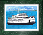 P693 - The Boat People Framed Print / Small (8.5 X 11) Green Art