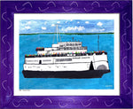 P693 - The Boat People Framed Print / Small (8.5 X 11) Purple Art