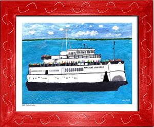 P693 - The Boat People Framed Print / Small (8.5 X 11) Red Art