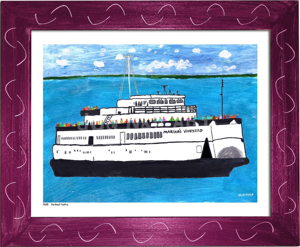 P693 - The Boat People Framed Print / Small (8.5 X 11) Violet Art
