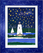 P704 - Wish Upon A Starfish Framed Print / Small (8.5 X 11) Blue Art