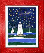 P704 - Wish Upon A Starfish Framed Print / Small (8.5 X 11) Red Art