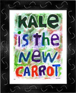 P711 - Kale Is The New Carrot Framed Print / Small (8.5 X 11) Black Art