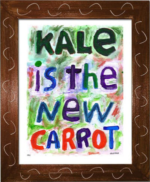 P711 - Kale Is The New Carrot Framed Print / Small (8.5 X 11) Brown Art