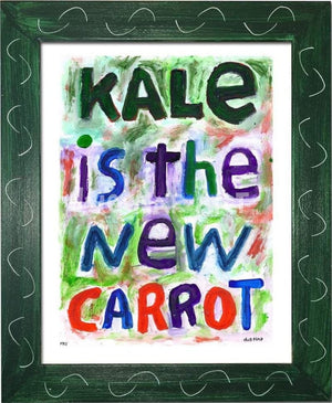 P711 - Kale Is The New Carrot Framed Print / Small (8.5 X 11) Green Art