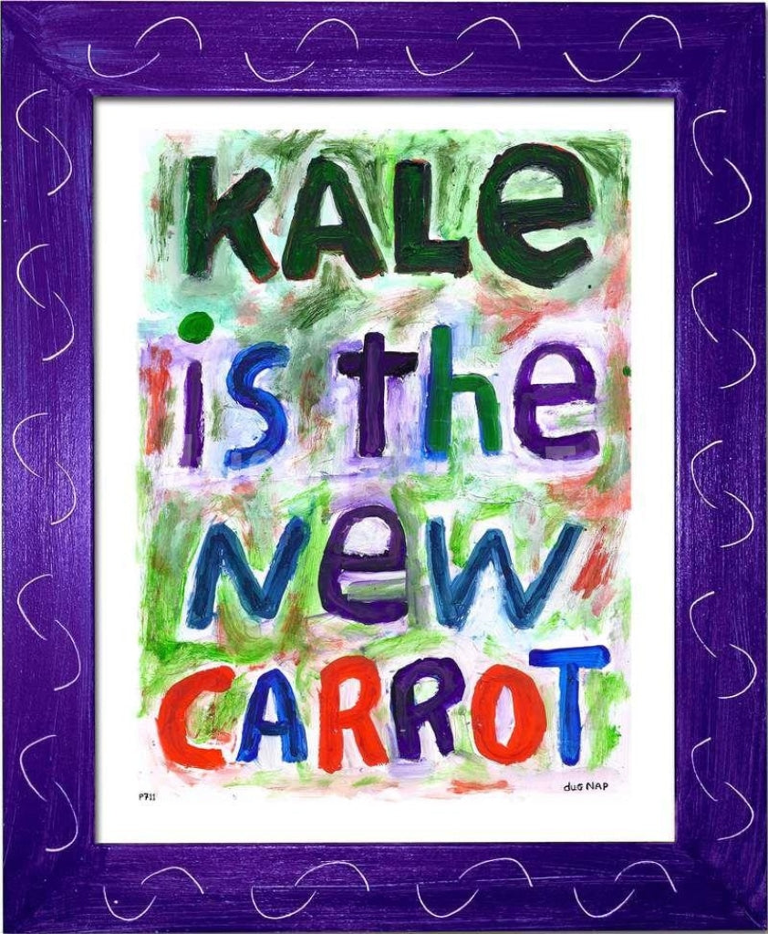 P711 - Kale Is The New Carrot Framed Print / Small (8.5 X 11) Purple Art