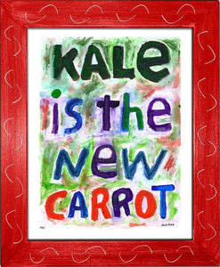 P711 - Kale Is The New Carrot Framed Print / Small (8.5 X 11) Red Art
