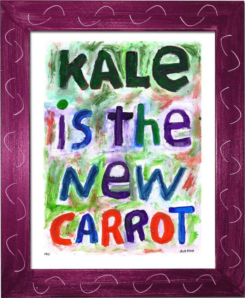 P711 - Kale Is The New Carrot Framed Print / Small (8.5 X 11) Violet Art