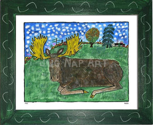 P721 - Serene Moose - dug Nap Art