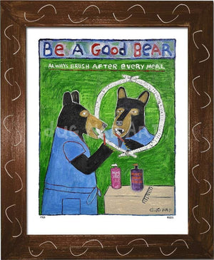 P725 - Be A Good Bear - dug Nap Art