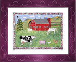 P727 - Lots Of Farm Animals Framed Print / Small (8.5 X 11) Violet Art