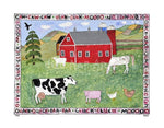 P727 - Lots Of Farm Animals Unframed Print / Small (8.5 X 11) No Frame Art