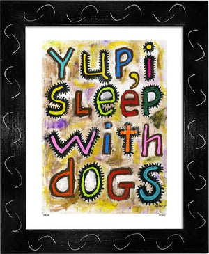 P728 - Sleep With Dogs Framed Print / Small (8.5 X 11) Black Art
