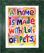P740 - Pet Filled Home - dug Nap Art