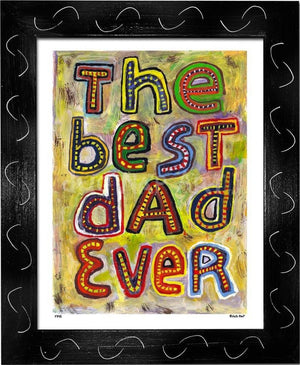 P745 - Best Dad Ever Framed Print / Small (8.5 X 11) Black Art