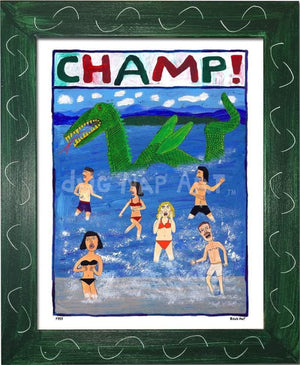 P757 - Champ! Framed Print / Small (8.5 X 11) Green Art