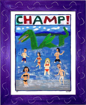 P757 - Champ! Framed Print / Small (8.5 X 11) Purple Art