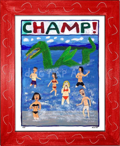 P757 - Champ! Framed Print / Small (8.5 X 11) Red Art