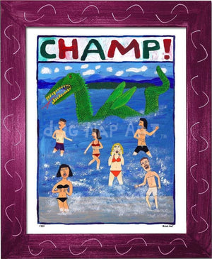 P757 - Champ! Framed Print / Small (8.5 X 11) Violet Art