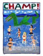P757 - Champ! Unframed Print / Small (8.5 X 11) No Frame Art