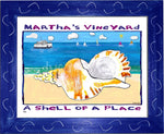 P760 - Mv Shell Of A Place Framed Print / Small (8.5 X 11) Blue Art