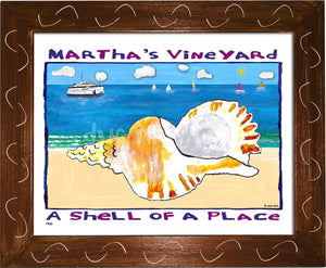 P760 - Mv Shell Of A Place Framed Print / Small (8.5 X 11) Brown Art