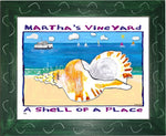 P760 - Mv Shell Of A Place Framed Print / Small (8.5 X 11) Green Art