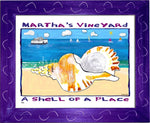 P760 - Mv Shell Of A Place Framed Print / Small (8.5 X 11) Purple Art
