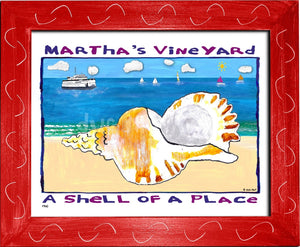P760 - Mv Shell Of A Place Framed Print / Small (8.5 X 11) Red Art