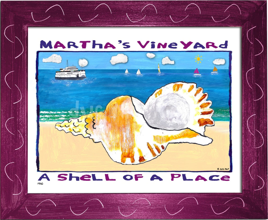 P760 - Mv Shell Of A Place Framed Print / Small (8.5 X 11) Violet Art