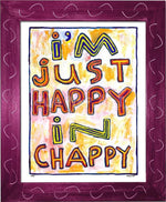 P764 - Happy In Chappy Framed Print / Small (8.5 X 11) Violet Art