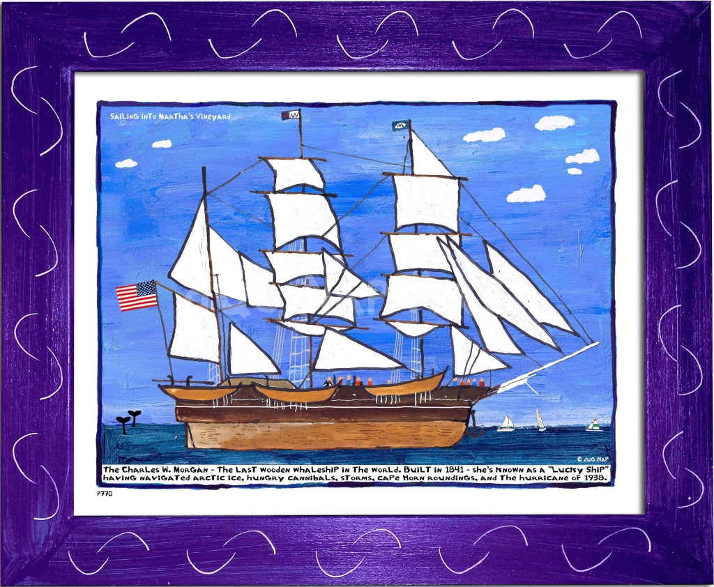 P770 - Sailing Into The Vineyard Framed Print / Small (8.5 X 11) Purple Art