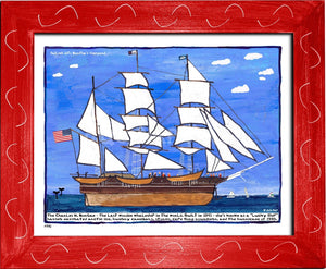 P770 - Sailing Into The Vineyard Framed Print / Small (8.5 X 11) Red Art