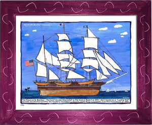 P770 - Sailing Into The Vineyard Framed Print / Small (8.5 X 11) Violet Art
