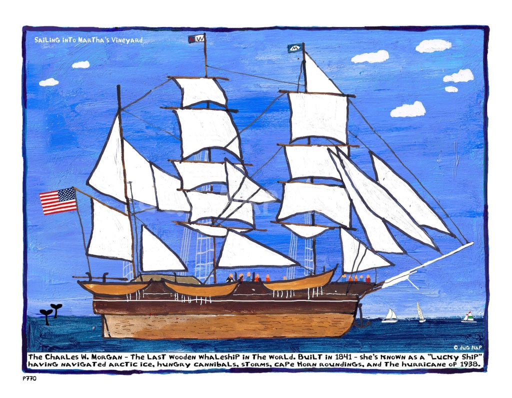 P770 - Sailing Into The Vineyard Unframed Print / Big (16 X 20) No Frame Art