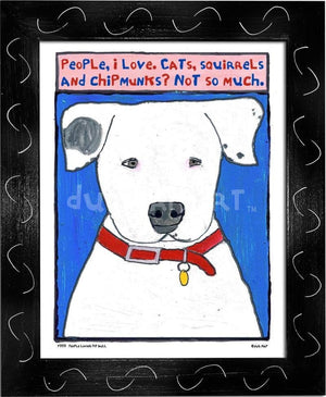 P777 - People Loving Pitbull - dug Nap Art