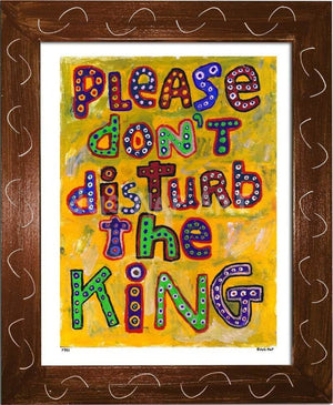 P781 - Dont Disturb The King Framed Print / Small (8.5 X 11) Brown Art