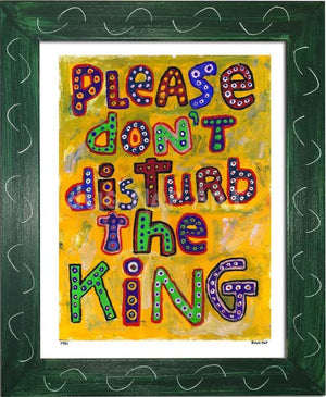 P781 - Dont Disturb The King Framed Print / Small (8.5 X 11) Green Art