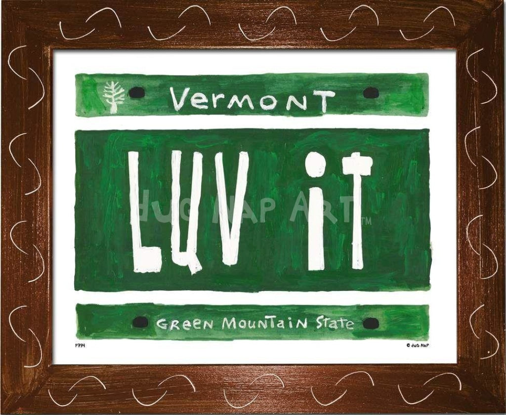 P794 - VT Plate - LUV IT - dug Nap Art