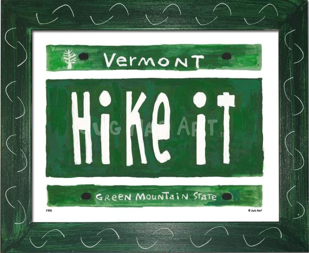 P795 - VT Plate - HIKE IT - dug Nap Art